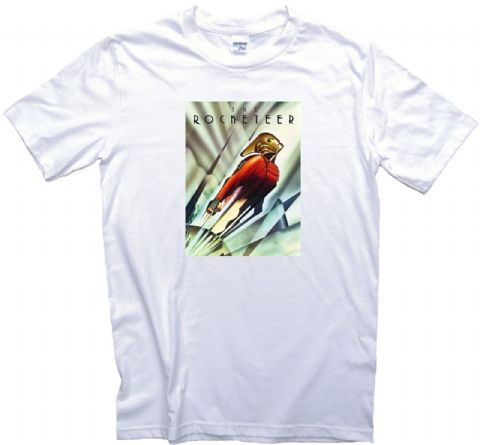 The Rocketeer Movie Film Poster T-Shirt. Gents, Ladies & Kids Sizes